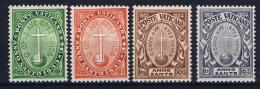 Vatican: 1933 Mi 17 - 20, MH/*