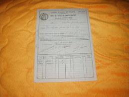 DOCUMENT CREDIT FONCIER DE FRANCE ANNEE 1924. / DEPOT DE TITRES EN COMPTE COURANT. / CACHET REPUBLIQUE FRANCAISE. LOI 2F - Actions & Titres