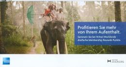 AK 2012 Frankfurt American Express Hilton Elefant Werbepostkarte - Éléphants