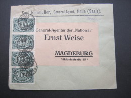 1923, Halle, Mehrfachfrankatur Auf Firmenbrief - Germany