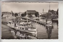 """SCHIFFE - BINNENSCHIFFE - BODENSEE - """"AUGSBURG"""" An Der Hafeneinfahrt Konstanz, 1955 - Paquebots"""