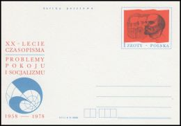 """Poland 1978, Postal Stationery """"20th Anniversary Of The Journal """"Problems Of Peace And Socialism"""""""", Cp 706, Mint - Interi Postali"""