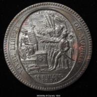 M00486 Medaille De Confiance De 5 Sols Contre Assignat, Monneron 1792 Et Serment Sur Constit., Vivre Libre - Monétaires / De Nécessité