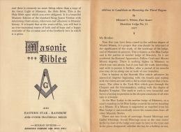 Franc Maçonnerie Maçon Maçonnique Document Masonic Bibles - Books, Magazines, Comics
