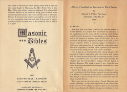 Franc Maçonnerie Maçon Maçonnique Document Masonic Bibles - Libros, Revistas, Cómics