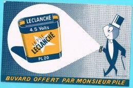 BUVARD BUVARDS Algerie Algeria France Publicité Pub Pile Battery Leclanché - Elektrizität & Gas