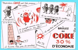 BUVARD BUVARDS Algerie Algeria France Publicité Pub Coke Charbon Coal - Electricity & Gas