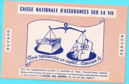 BUVARD BUVARDS Algerie Algeria France Publicité Pub Caisse Nationale Assurance Vie National Life Insurance Fund Balance - Banco & Caja De Ahorros