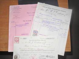 LE GRANDS CHAIS BELGES - Anc Maison R J COUTEAU Et Cie - Bruxelles Rue Grétry 45- 4 Documents - Alimentaire