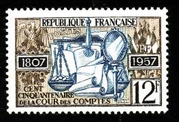 FRANCE  1957  -  Y&T 1107  - Cour Des Comptes  -   NEUF** - Cote 0.30e - France