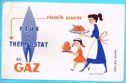 BUVARD BUVARDS Algerie Algeria France Publicité Pub Four Thermostat Gaz Gas Oven - Alimentaire