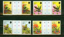 British Virgin Islands 1982,8V In Gutterpair,birds,uccelli,MNH/Postfs, (E1677it) - Oiseaux