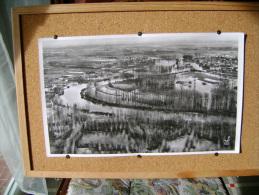 Superbe Photo Aérienne De La Région De BRAY SUR SEINE Inondée Très Grandes Dimensions 45cmsx27cms - Other Collections