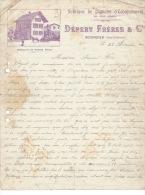 SCIONZIER - 1917 - DÉPERY Frères Et Cie - Fabrique De Pignons D'Echappement - - Old Professions
