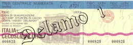 Naz. Di Calcio Italiane-- MILANO. Biglietto Originale Incontro -- ITALIA -- CECOSLOVACCHIA 1982 - Apparel, Souvenirs & Other