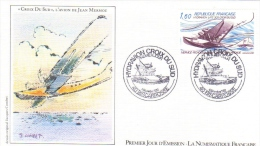 France  -  Laté 300 Hydravion - 'Croix Du Sud' - L'Avion De Jean Mermoz  -  Premier Jour D´Emission - Vliegtuigen