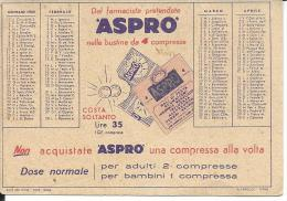 CAL220 - CALENDARIETTO 1955 - ASPRO - Calendriers