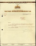 Faktuur Facture Bruxelles Fabrique De Meubles Victor Vanhaeghenborgh - Factures & Documents Commerciaux