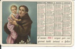 CAL150 - CALENDARIETTO 1967 - LE ORFANELLE ANTONIANE DEL PADRE A. M. DI FRANCIA - Calendari
