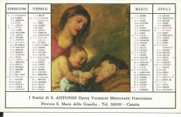 CAL151 - CALENDARIETTO 1969 - I FRATINI DI S. ANTONIO - CATANIA - Calendari