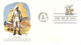 US  -  Wiley Post  -  Pionnier D´Aviation  -  Fleetwood  FDC  -  Premier Jour D´Emission - Flugzeuge