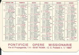 CAL153 - CALENDARIETTO 1969 - PONTIFICIE OPERE MISSIONARIE - Petit Format : 1961-70