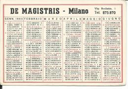 CAL222 - CALENDARIETTO 1963 - DE MAGISTRIS - MILANO - Calendari