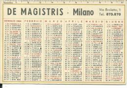 CAL224 - CALENDARIETTO 1964 - DE MAGISTRIS - MILANO - Calendari