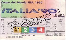 COPPA DEL MONDO FIFA 1990 --ROMA . Biglietto Originale Incontro -- ITALIA --STATI UNITI - Abbigliamento, Souvenirs & Varie