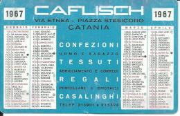 CAL229 - CALENDARIETTO 1967 - CAFLISCH - CATANIA - Calendari