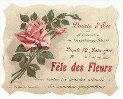 """- **FÊTE DES  FLEURS  """"""""    ** Palais D'Eté------Lundi 12 Juin 1911 - B. Flower Plants & Flowers"""