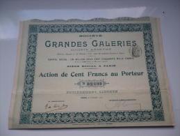 GRANDES GALERIES (1907) - Shareholdings
