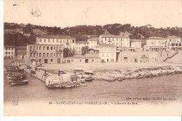Saint-Jean-Cap-Ferrat (Alpes-Maritimes)-1925-L'entrée Du Port-Bateaux De Pêche-Timbre Type Pasteur 45c YT 175 (scan) - Saint-Jean-Cap-Ferrat