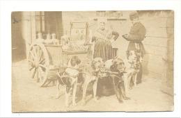 Laitière Flamande, Attelage à 5 Chiens - Ancienne Reproduction - Photo (10,5 X 16,5 Cm) Collée Sur Carton (sf83) - Riproduzioni