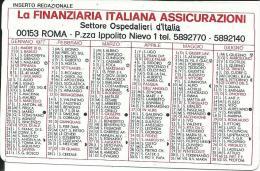 CAL241 - CALENDARIETTO 1977 - LA FINANZIARIA ITALIANA ASICURAZIONI - Calendari