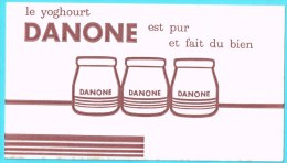 BUVARD BUVARDS Algerie Algeria France Publicité Pub Yaourt Yoghourt Danone - Alimentos