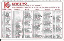 CAL243 - CALENDARIETTO 1978 - KARTRO - Calendari