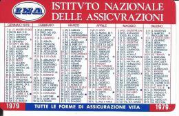 CAL246 - CALENDARIETTO 1979 - INA ASSICURAZIONI - Calendari