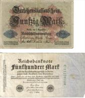 5 BILLETS ALLEMANDS ET BILLETS LOCAUX REPUBLIQUE WEIMAR - [ 3] 1918-1933 : République De Weimar