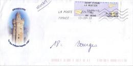 Enveloppe  Utilisée : 18 (cher) GROSSOUVRE ; La Tour Philippe Auguste -1180- - Postmark Collection (Covers)
