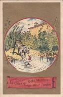 CHROMO - Le Chien Qui Lâche Sa Proie Pour L'ombre - La Fontaine - Trade Cards