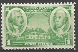 1936 1 Cent Army Heroes, Mint Never Hinged - United States