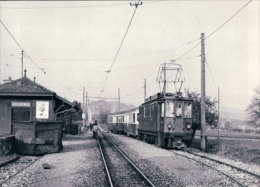 Chemin De Fer Nyon-St Cergue-Morez, Train à Givrins Gare, Photo 1985 BVA, NStCM 154.5 - VD Vaud