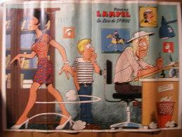 BD - POSTER SPIROU 1976 - PAUVRE LAMPIL ( RECTO) / NORTHROP T-38 TALON - 60x43cm - Spirou Magazine