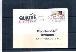 """""""Janvier Le Mois Du Blanc"""" Sur Lettre 20gr. (à Voir) - France"""