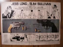 BD - POSTER SPIROU 1974 - JESS LONG & SLIM SULLIVAN Présente Le SPECIAL 38 Et Le COLT 45 - 60x43cm - Livres, Revues & Catalogues