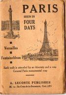 VP98 - Vieux Plan Des Rues De PARIS Et Du Métropolitain En Anglais / VERSAILLES / FONTAINEBLEAU - Planches & Plans Techniques