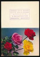 Calendrier Petit Format 1973 : Fleurs, Roses, Librairie-Papeterie Delaplanche, Mantes-la-Ville - Tamaño Pequeño : 1971-80