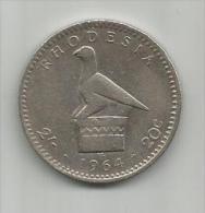C6  Rhodesia 20 Cents 1964. - Rhodesia