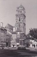 12 - Rodez - La Cathédrale (place, Animée, Automobiles, Commerces,..grand Format) - Rodez